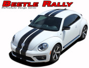 BEETLE RALLY : Complete Bumper to Bumper Racing Stripes Vinyl Graphics Kit for 2012-2016 Volkswagen Beetle  Complete Bumper to Bumper Racing Stripes Vinyl Graphics Kit, specially engineered for the Volkswagen Beetle, Turbo and non-Turbo Models! Fantastic rally application that will set your Beetle apart from the rest!