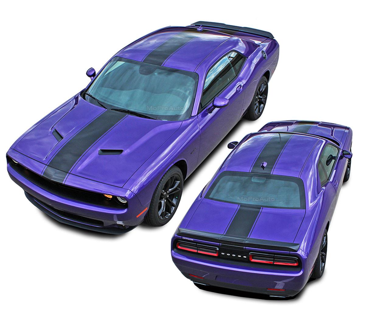 Dodge Challenger Redline Style Center Stripes Decals 2011 2012 2013 2014