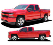 BREAKER : 2014 2015 2016 2017 2018 Chevy Silverado Upper Body Line Accent Rally Side Vinyl Graphic Decal Stripe Kit (PDS-4405)