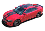 2015 2016 2017 2018 2019 N-CHARGE RALLY SP : R/T Scat Pack SRT 392 Hellcat Racing Stripe Rally Vinyl Graphics Decals Kit for Dodge Charger (M-PDS4467)