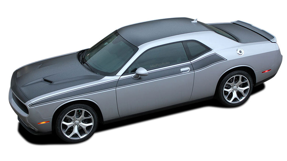 Dodge Challenger Stripes Pursuit T A Wide Upper Door
