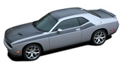 Challenger PURSUIT : Wide Upper Door Vinyl Graphics Side T/A 392 Style Stripes Accent Decals for 2011, 2012, 2013, 2014, 2015, 2016, 2017, 2018, 2019, 2020, 2021 Dodge Challenger (M-PDS4504)