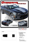 2016 2017 2018 Camaro OVERDRIVE CONVERTIBLE : Chevy Camaro Center Wide Hood Racing Stripes Rally Vinyl Graphics and Decals Kit (fits SS, RS, V6 MODELS) - DETAILS