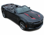 2016 2017 2018 Camaro HERITAGE CONVERTIBLE : Chevy Camaro 50th Anniversary Indy 500 Style Hood Vinyl Graphic Racing Stripes Rally Decals Kit (fits SS, RS, V6 MODELS) (M-PDS-4633)