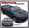 2016 2017 2018 Camaro HERITAGE CONVERTIBLE : Chevy Camaro 50th Anniversary Indy 500 Style Hood Vinyl Graphic Racing Stripes Rally Decals Kit (fits SS, RS, V6 MODELS) - DETAILS