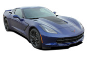 C7 HOOD : 2014 2015 2016 2017 2018 2019 Chevy Corvette C7 Hood Vinyl Graphic Decal Stripes (M-PDS4761)