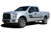 ELIMINATOR : Ford F-150 Side Door Hockey Style Rally Stripes Vinyl Graphics and Decals Kit for 2015, 2016, 2017, 2018, 2019, 2020 Models (M-PDS-4777)