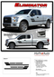 ELIMINATOR : Ford F-150 Side Door Hockey Style Rally Stripes Vinyl Graphics and Decals Kit for 2015 2016 2017 2018 2019 Models (M-PDS-4777) - DETAILS