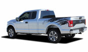 REAPER RIP : Ford F-150 Side Truck Bed 4X4 Mudslinger Style Vinyl Graphic Stripes and Decals Kit for 2015, 2016, 2017, 2018, 2019, 2020 Models (M-PDS-4775)