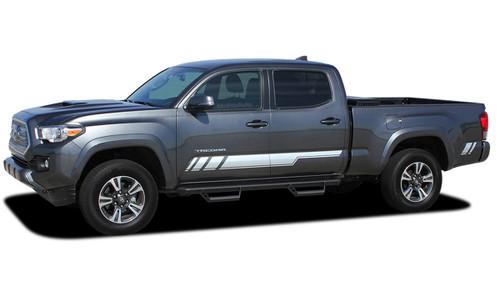 CORE : 2015, 2016, 2017, 2018, 2019, 2020, 2021 Toyota Tacoma TRD Sport Pro Lower Rocker Side Door Vinyl Graphic Stripes Decal Kit (M-PDS-4829)