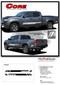 CORE : 2015, 2016, 2017, 2018, 2019, 2020 Toyota Tacoma TRD Sport Pro Lower Rocker Side Door Vinyl Graphic Stripes Decal Kit - DETAILS