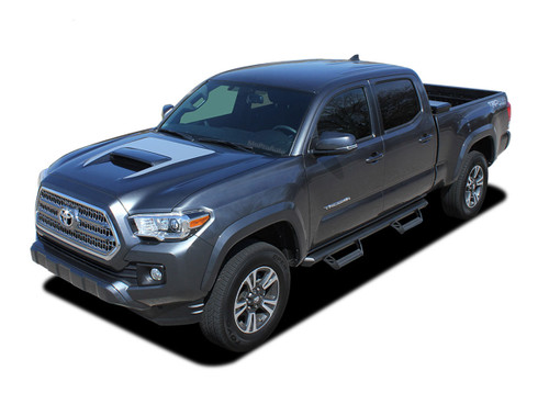 SPORT PRO : 2015, 2016, 2017, 2018, 2019, 2020 Toyota Tacoma TRD Sport and TRD Pro Hood Blackout Vinyl Graphic Stripes Decal Kit (M-PDS-4831)
