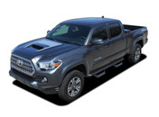 SPORT PRO : 2015 2016 2017 2018 2019 2020 Toyota Tacoma TRD Sport and TRD Pro Hood Blackout Vinyl Graphic Stripes Decal Kit (M-PDS-4831)