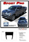 SPORT PRO : 2015, 2016, 2017, 2018, 2019, 2020, 2021 Toyota Tacoma TRD Sport and TRD Pro Hood Blackout Vinyl Graphic Stripes Decal Kit - DETAILS