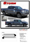 STORM : 2015, 2016, 2017, 2018, 2019, 2020 Toyota Tacoma TRD Sport Pro Upper Body Hockey Style Side Door Vinyl Graphic Stripes Decal Kit - DETAILS