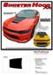 2015-2020 SINISTER AIR HOOD : Dodge Charger Daytona Hemi SRT 392 Style Center Hood Vinyl Graphic Decals and Stripe Kit - Details