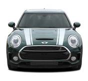 CLUBMAN HOOD : 2016-2019 Mini Cooper Hood Stripes Vinyl Graphic Decal Kit (M-PDS-4229)