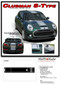 CLUBMAN S-TYPE RALLY : 2016-2018 2019 Mini Cooper Center Hood Stripes Vinyl Graphic Decal Kit - Details