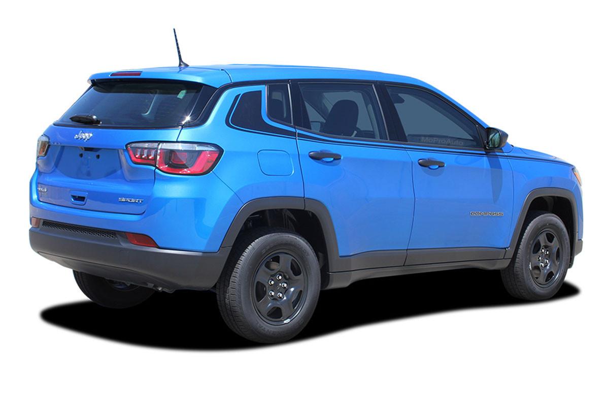 NEW 2019 Jeep Renegade Satin Decals 2018 2017 Semi-Gloss Black Graphics Kit