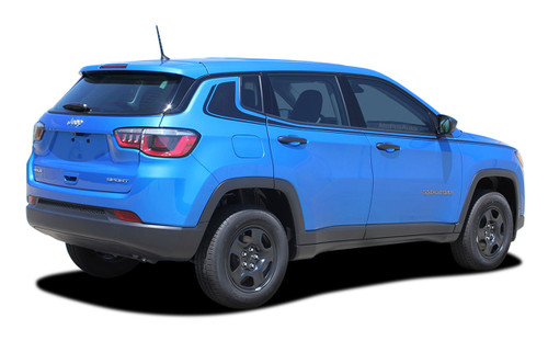 2017, 2018, 2019, 2020, 2021 Jeep Compass ALTITUDE Vinyl Graphics Stripes and Decals Kit! Engineered specifically for the new Jeep Compass, this kit will give you a factory OEM upgrade look at a discount price! Cut to fit sections ready to install! Fits Jeep Compass Upper Body Line Side Rocker Panels . . .