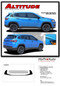 ALTITUDE : Jeep Cherokee Upper Body Line Vinyl Graphics Decal Stripe Kit for 2017, 2018, 2019, 2020 Models (M-PDS-5059) - Details