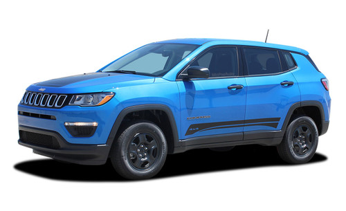 2017, 2018, 2019, 2020, 2021 Jeep Compass COURSE Vinyl Graphics Stripes and Decals Kit! Engineered specifically for the new Jeep Compass, this kit will give you a factory OEM upgrade look at a discount price! Cut to fit sections ready to install! Fits Jeep Compass Lower Body Line Side Rocker Panels . . .