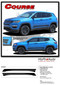 COURSE : Jeep Compass Vinyl Graphics Decal Stripe Lower Body Door Line Kit for 2017, 2018, 2019, 2020, 2021 Models (M-PDS-5062) - Details