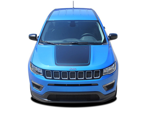 2017 2018 2019 Jeep Compass BEARING Vinyl Graphics Stripes and Decals Kit! Engineered specifically for the new Jeep Compass, this kit will give you a factory OEM upgrade look at a discount price! Cut to fit sections ready to install! Fits Jeep Compass for Center Hood Blackout Applications . . .