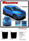 BEARING : Jeep Compass Vinyl Graphics Decal Stripe Hood Blackout Kit for 2017, 2018, 2019, 2020 Models (M-PDS-5065)  - Details