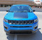 BEARING : Jeep Compass Vinyl Graphics Decal Stripe Hood Blackout Kit for 2017 2018 2019 Models (M-PDS-5065)  - Customer Photo 5