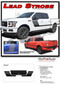 LEAD STROBE : Ford F-150 Stripes Decals Special Edition Lead Foot Appearance Package Hockey Stripe Vinyl Graphics 2015 2016 2017 2018 2019 (M-PDS-5223) - Details