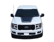 LEAD HOOD : Ford F-150 Hood Decals Special Edition Stripes Lead Foot Appearance Package Vinyl Graphics 2015 2016 2017 2018 2019 (M-PDS-5222)