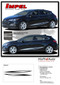 IMPEL : Chevy Cruze Rocker Door Stripes 2017-2019 Vinyl Graphic Decals Hatchback or Coupe Kit (M-PDS-5106) - Details