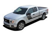 SPEEDWAY : Ford F-150 Stripes Decals Special Edition Lead Foot Style Package Hockey Stripe Vinyl Graphics 2015, 2016, 2017, 2018, 2019, 2020 (M-PDS-5239)