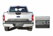 SPEEDWAY TAILGATE : Ford F-150 Decals Rear Blackout Inlays Vinyl Graphic Stripe Kit for new 2018, 2019, 2020 Models (M-PDS-5248)