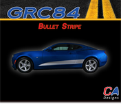 2016-2018 Chevy Camaro Bullet Stripe Side Door Rocker Vinyl Graphic Decal Kit (M-GRC84)