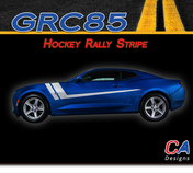 2016-2018 Chevy Camaro Hockey Rally Stripe Side Door Rocker Vinyl Graphic Decal Kit (M-GRC85)