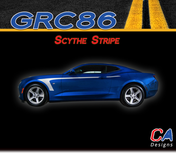 2016-2018 Chevy Camaro Scythe Stripe Side Door Rocker Vinyl Graphic Decal Kit (M-GRC86)