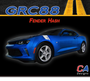 2016-2018 Chevy Camaro Fender Hash Stripe Side Hood Fender Vinyl Graphic Decal Kit (M-GRC88)