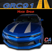 2016-2018 Chevy Camaro Hood Spear Stripe Vinyl Graphic Decal Kit (M-GRC91)