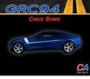 2016-2018 Chevy Camaro Check Stripe Side Door Vinyl Graphic Decal Kit (M-GRC94)