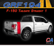 2015-2018 Ford F-150 Tailgate Straight 1 Vinyl Graphic Stripe Kit (M-GRF194)