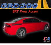 2015-2018 Dodge Charger Stripes Decals SRT Quarter Panel Accent Vinyl Graphic Kit (M-GRD299)
