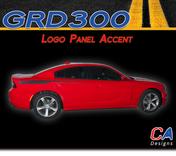 2015-2018 Dodge Charger Stripes Decals Logo Quarter Panel Accent Vinyl Graphic Kit (M-GRD300)