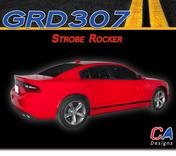 2015-2018 Dodge Charger Stripes Decals Strobe Rockers Stripe Quarter Panel Accent Vinyl Graphic Kit (M-GRD307)
