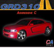 2015-2018 Dodge Charger Stripes Decals Aggressive C Body Line Door Accent Vinyl Graphic Kit (M-GRD310)