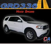 2010-2018 Dodge Durango Hood Spears Stripe Vinyl Striping Graphic Kit (M-GRD336)