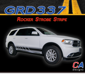 2010-2018 Dodge Durango Rocker Strobe Stripe Vinyl Striping Graphic Kit (M-GRD337)
