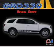 2010-2018 Dodge Durango Reveal Rocker Stripe Vinyl Striping Graphic Kit (M-GRD339)