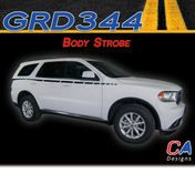 2010-2018 Dodge Durango Body Strobe Stripe Vinyl Striping Graphic Kit (M-GRD344)
